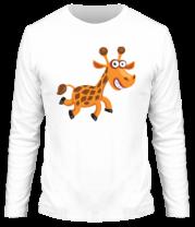Мужская футболка с длинным рукавом Жираф smile