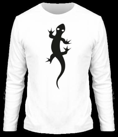 Мужская футболка с длинным рукавом Ящерка