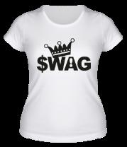 Женская футболка  SWAG