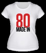Женская футболка  Made in 80s