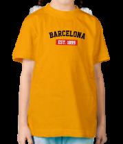 Детская футболка  FC Barcelona Est. 1899