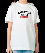 Детская футболка  FC Manchester United Est. 1878