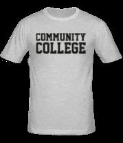 Мужская футболка  Community College
