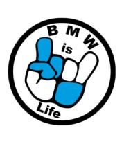 Женская футболка с длинным рукавом BMW is life - БМВ это жизнь