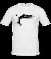 Мужская футболка  Собака и жук