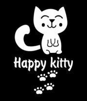 Толстовка без капюшона Happy kitty