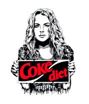 Женская футболка  Lindsay Lohan Coke diet