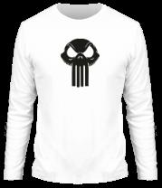 Мужская футболка с длинным рукавом Череп скелетон punisher