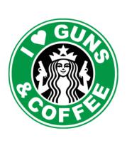 Толстовка i live guns & coffe