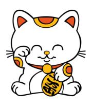 Толстовка без капюшона Манэки-нэко кошка зовущие счастье