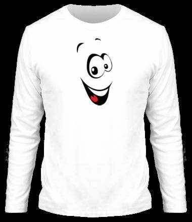 Мужская футболка с длинным рукавом Радостный смайл
