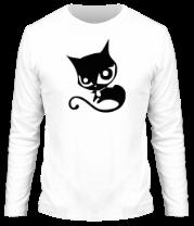 Мужская футболка с длинным рукавом Doom Kitty