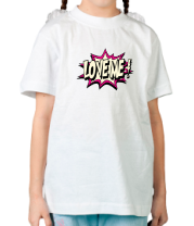 Детская футболка  Love me светится
