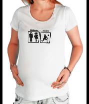 Футболка для беременных Проблемы - волейбол решение