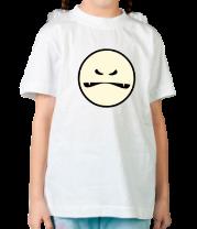 Детская футболка  Злой смайл монстр