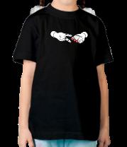 Детская футболка  Острые ножницы - камень ножницы бумага