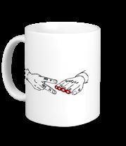 Кружка Острые ножницы - камень ножницы бумага
