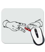 Коврик для мыши Острые ножницы - камень ножницы бумага