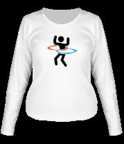 Женская футболка с длинным рукавом Portal (Портал) хулахуп