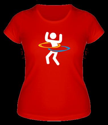 Женская футболка  Portal (Портал) хулахуп
