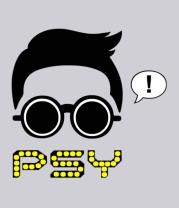 Мужская футболка  Psy
