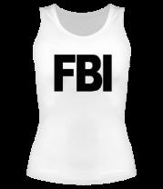 Женская майка борцовка FBI