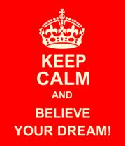 Женская футболка  Keep  calm and believe your dream!
