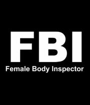 Женская футболка с длинным рукавом FBI Female Body Inspector