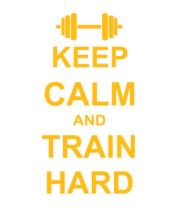 Толстовка Keep calm and train hard