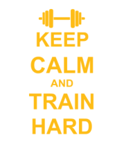 Футболка для беременных Keep calm and train hard