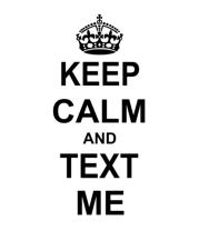 Толстовка Keep calm and text me