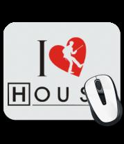 Коврик для мыши I Love House