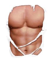 Мужская футболка с длинным рукавом Мужское тело