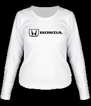 Женская футболка с длинным рукавом Honda