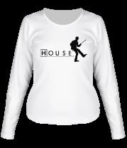 Женская футболка с длинным рукавом House MD