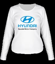Женская футболка с длинным рукавом Hyundai