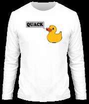 Мужская футболка с длинным рукавом утка говорит quack