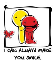 Толстовка без капюшона I can Always Make You Smile