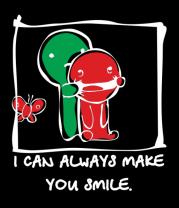Женская футболка  I can Always Make You Smile