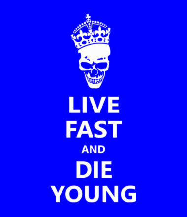 Толстовка худи Live fast die young