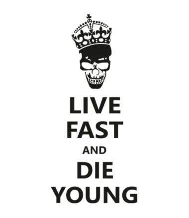 Кружка Live fast die young