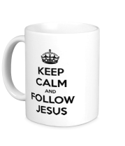 Кружка Keep calm and follow Jesus.