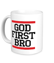 Кружка God first bro