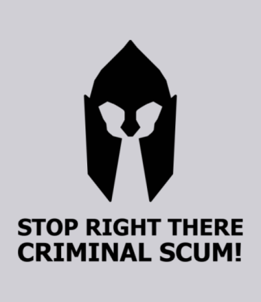 Толстовка Stop right there, criminal scum!