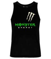 Мужская майка Monster energy shoulder (glow)