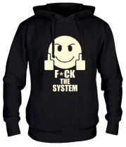 Толстовка Fuck the system (свет)