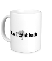 Кружка Black Sabbath text with logo