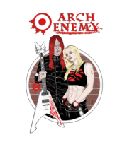 Мужская майка Arch Enemy. Michael and Angela.