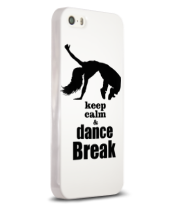 Чехол для iPhone Keep_calm & dance break woman