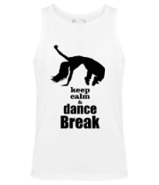 Мужская майка Keep_calm & dance break woman